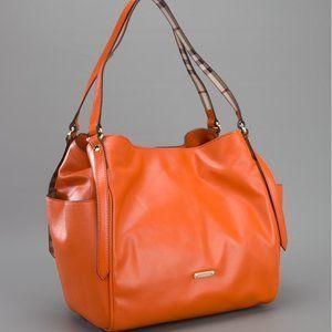 Burberry Canterbury STote Orange Leather Purse Bag